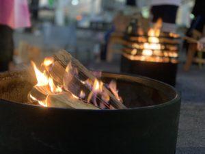 焚き火台の火のゆらぎ