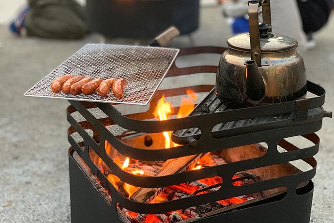 焚き火台 CUBE Fire basket black